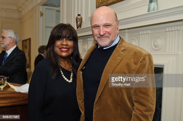Chaz Ebert and Director Andy Davis attend the opening gala for the Roger Ebert Film Festival at Virginia Theatre on April 18 2018 in Champaign...