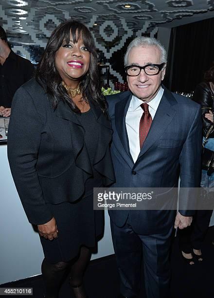 Chaz Ebert and director Martin Scorsese attend the Ebert Dinner Hosted By Chaz Ebert And Martin Scorsese during the 2014 Toronto International Film...