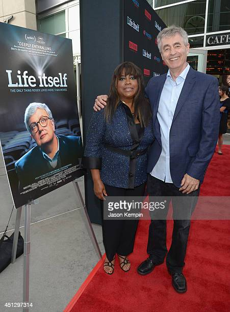 Chaz Ebert and Steve James attend the premiere of Magnolia Pictures' Life Itself at ArcLight Hollywood on June 26 2014 in Hollywood California