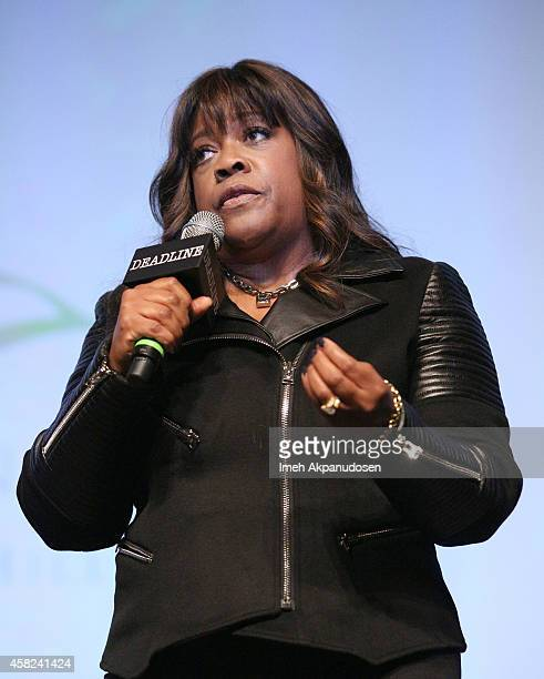 Chaz Ebert speaks onstage during Deadline's The Contenders at DGA Theater on November 1 2014 in Los Angeles California