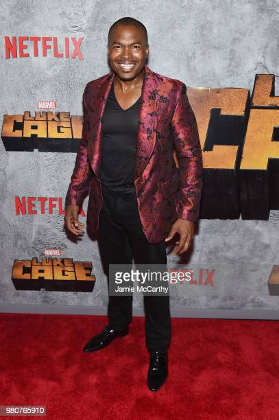 Chaz Lamar Shepherd attends the 'Luke Cage' Season 2 premiere at The Edison Ballroom on June 21 2018 in New York City