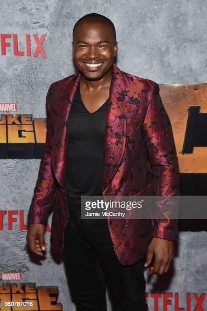 Chaz Lamar Shepherd attends the 'Luke Cage' Season 2 premiere at The Edison Ballroom on June 21 2018 in New York City