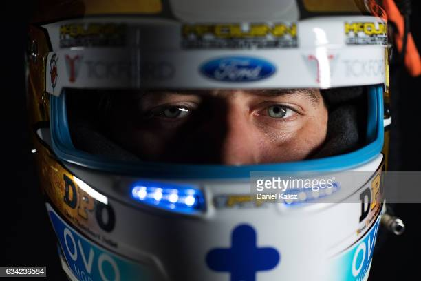 Chaz Mostert driver of the Supercheap Auto Racing Ford Falcon FGX poses during a portrait session during the 2017 Supercars media day on February 8...