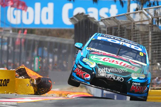 Chaz Mostert drives the Pepsi Max Crew Ford during qualifying for the Gold Coast 600 which is round 12 of the V8 Supercars Championship Series at the...