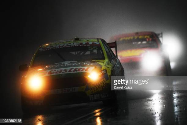 Chaz Mostert drives the Supercheap Auto Racing Ford Falcon FGX during race 27 for the Supercars Gold Coast 600 on October 21 2018 in Gold Coast...