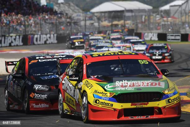 Chaz Mostert drives the Supercheap Auto Racing Ford Falcon FGX during race 2 for the Clipsal 500 which is part of the Supercars Championship at...