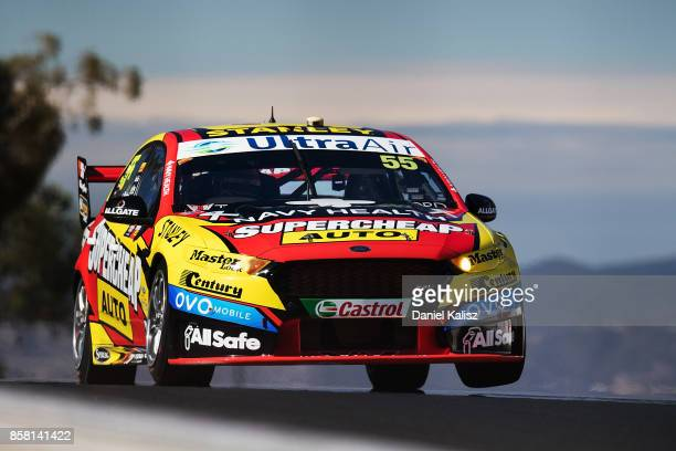 Chaz Mostert drives the Supercheap Auto Racing Ford Falcon FGX during qualifying ahead of this weekend's Bathurst 1000 which is part of the Supercars...