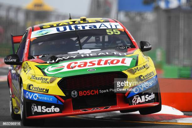 Chaz Mostert drives the Supercheap Auto Racing Ford Falcon FGX during practice 1 for the Gold Coast 600 which is part of the Supercars Championship...