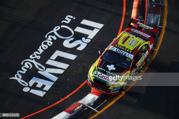 Chaz Mostert drives the Supercheap Auto Racing Ford Falcon FGX during practice 3 for the Gold Coast 600 which is part of the Supercars Championship...