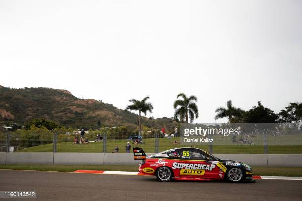 Chaz Mostert drives the Supercheap Auto Racing Ford Mustang on July 05, 2019 in Townsville, Australia.