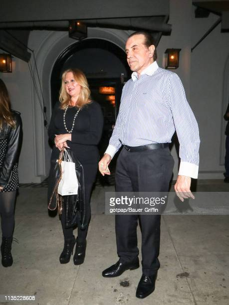 Chazz Palminteri and Gianna Ranaudo are seen on April 05 2019 in Los Angeles California