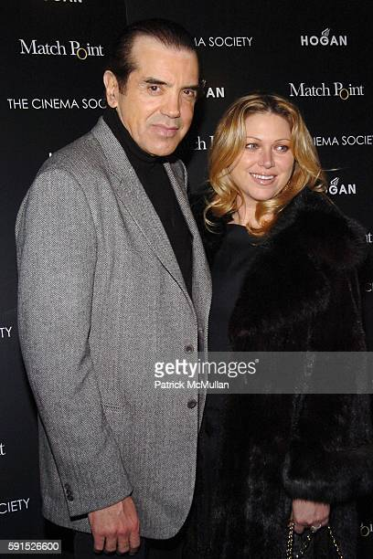 Chazz Palminteri and Gianna Ranaudo attend THE CINEMA SOCIETY HOGAN special screening of DreamWorks Pictures' film MATCH POINT at Tribeca Grand Hotel...