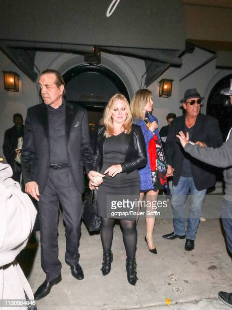 Chazz Palminteri Gianna Palminteri and Robert Davi are seen on March 15 2019 in Los Angeles California