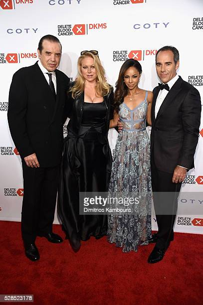 Chazz Palminteri Gianna Ranaudo Angelina Lipman and President at Republic Records Monte Lipman attend the 10th Annual Delete Blood Cancer DKMS Gala...