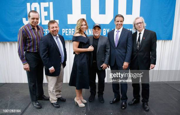 Chazz Palminteri MSG CEO and Chairman James Dolan Alexis Roderick Billy Joel NY State Governor Andrew Cuomo and Jim Kerr pose as Madison Square...