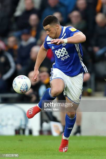 Che Adams controls the ball at the KCOM Stadium on March 02 2019 in Hull England