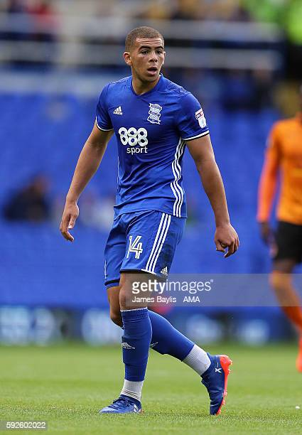 Che Adams of Birmingham City during the Sky Bet Championship match between Birmingham City and Wolverhampton Wanderers at St Andrews on August 20...