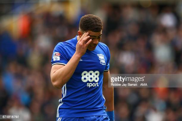 Che Adams of Birmingham City walks off after receiving a red card during the Sky Bet Championship match between Birmingham City and Huddersfield Town...