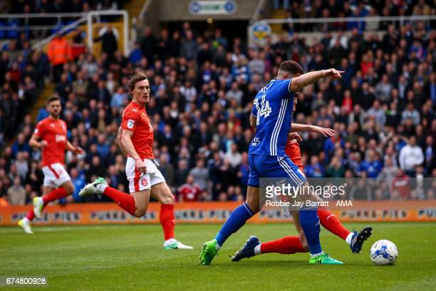 Che Adams of Birmingham City wins a penalty during the Sky Bet Championship match between Birmingham City and Huddersfield Town at St Andrews on...