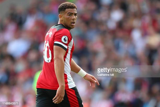 Che Adams of Southampton during the Premier League match between Southampton FC and Liverpool FC at St Mary's Stadium on August 17 2019 in...