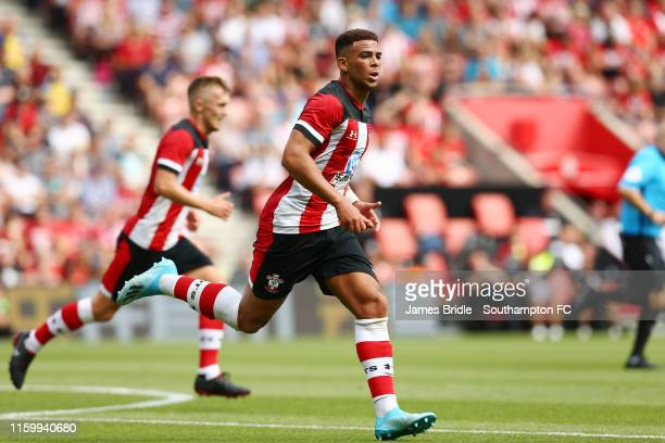 Che Adams of Southampton during the PreSeason Friendly match between Southampton FC and FC Köln pictured at St Mary's Stadium on August 03 2019 in...
