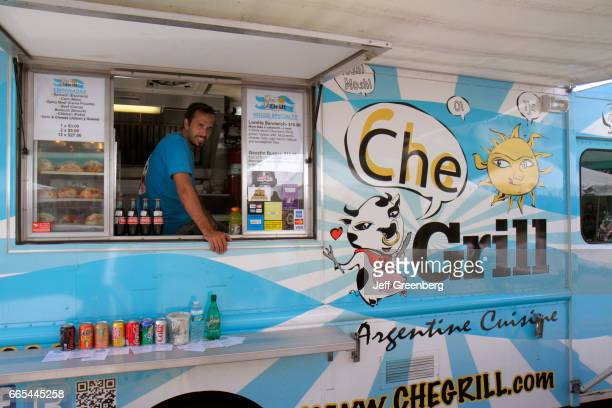 A Che Grill food truck at the Art on Palm fair