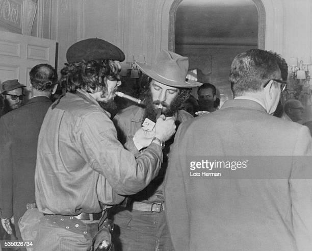 Che Guevara and Camilo Cienfuegos light victory cigars Havana Cuba 1/59