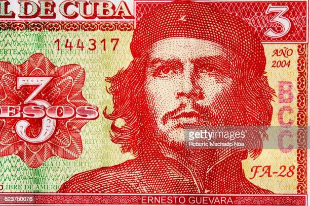 Che Guevara as depicted in the Cuban three pesos bill The bank note has become a tourist attraction so it is hard to find in the Caribbean island
