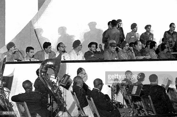 Che Guevara at an anniversary of the RDC Cuba 1962