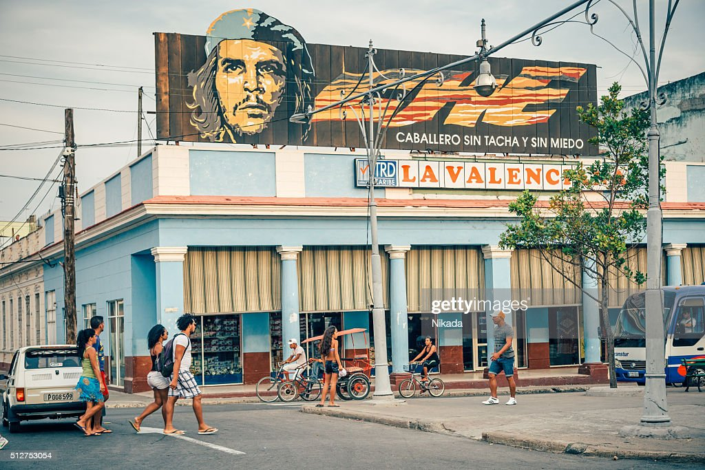 Che Guevara banner in Cuba : Stock Photo