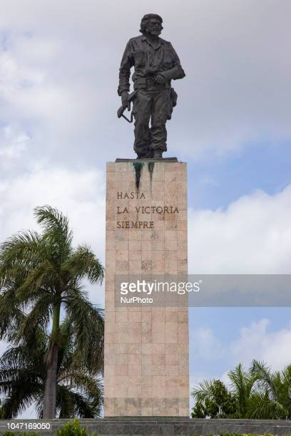 Che Guevara Mausoleum in Santa Clara Cuba The mausoleum is a memorial in Santa Clara in Plaza Che Guevara or Che Guevara Square with a 22 feet bronze...