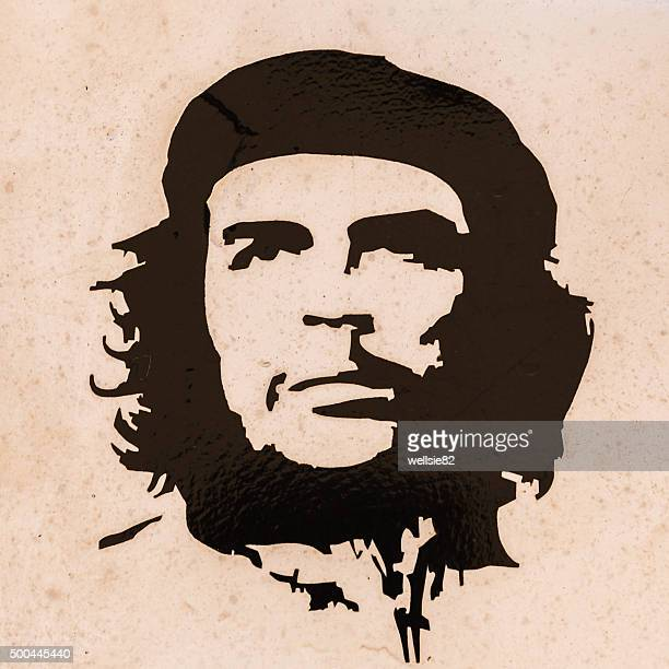 che guevara on the side of a truck - che guevara photos et images de collection