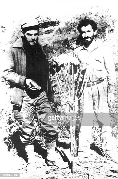 Che Guevara with one of his fellows 20th century Bolivia