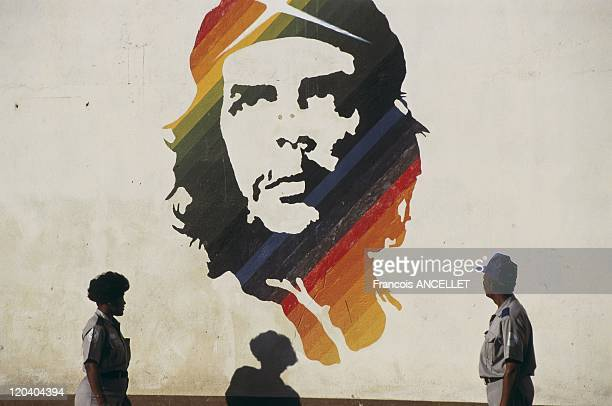 Che Guevara's wall portrait in Havana Cuba