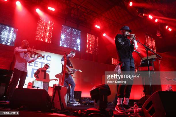 Che Lingo and Bakery perform at Bacardi X The Dean Collection Present No Commission Berlin on July 1 2017 in Berlin Germany