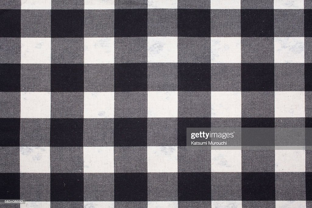 Cheakd pattern cloth texture background : Stock Photo