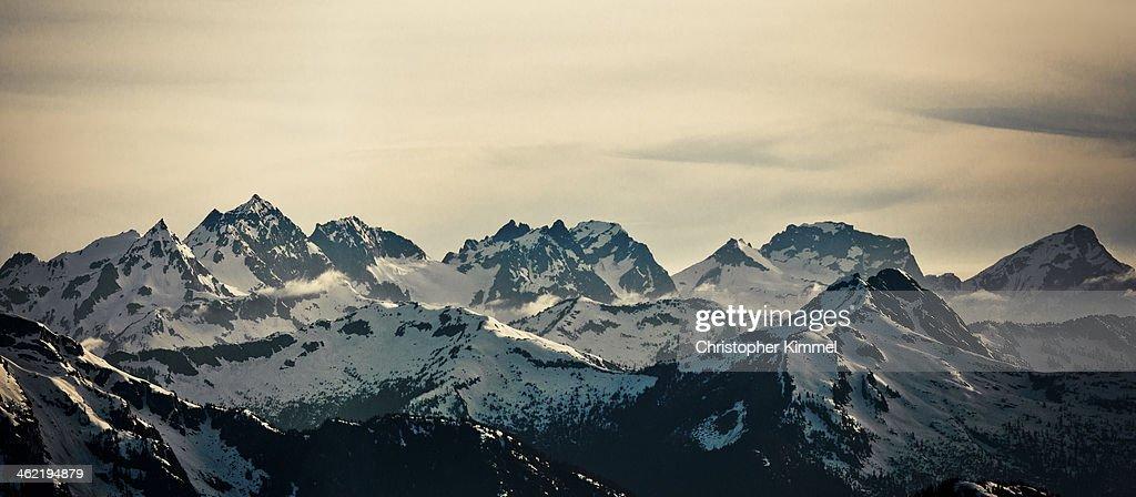 Cheam Mountain Range : Stock Photo
