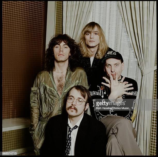 Cheap Trick group shot at a hotel Tokyo April 1978