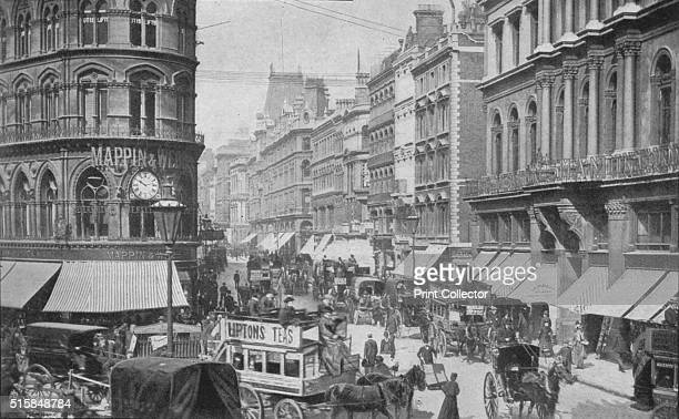 Cheapside from the Mansion House City of London circa 1900 From Living London Vol 1 edited by George R Sims [Cassell and Company Limited London Paris...
