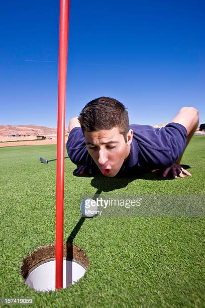 Cheating Golf Player