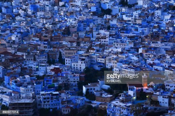 chechaouen the blue city morocco - novembro azul - fotografias e filmes do acervo