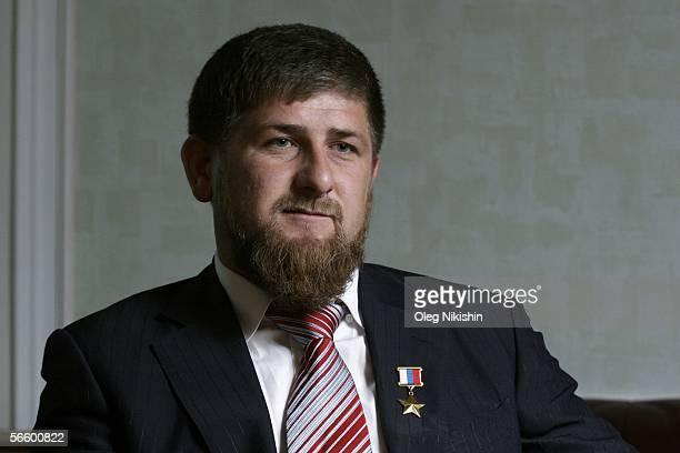 Chechen First Deputy Prime Minister Ramzan Kadyrov speaks in his office in Gudermes 2 August 2005 Chechnya Russia Chechen acting premier Ramzan...