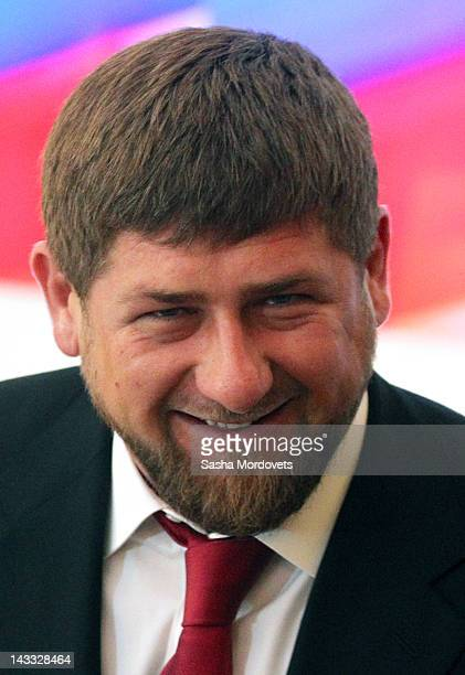 Chechen President Ramzan Kadyrov attends a speech by Russan President Dmitry Medvedev to the Cabinet and the country's governors during a meeting of...