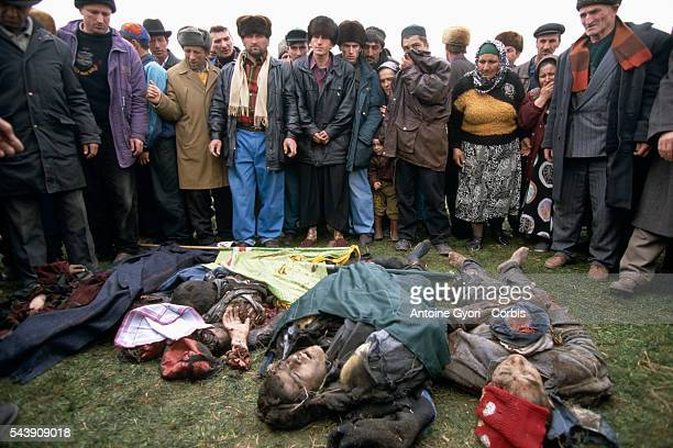 Chechen villagers killed in an attack by unidentified terrorists