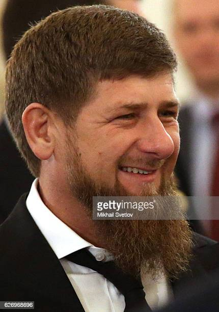 Chechnya's Governor Ramzan Kadyrov attends Russian President Vladimir Putin's annual speech to the Federal Assembly at Grand Kremlin Palace on...