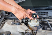 Check brake fluid inlet,Car maintenance,Check  car yourself.
