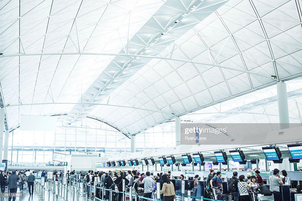 Check In at Hong Kong International Airport : Stock Photo