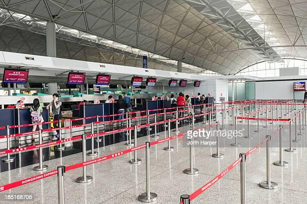 Check in desks, Hong Kong Airport