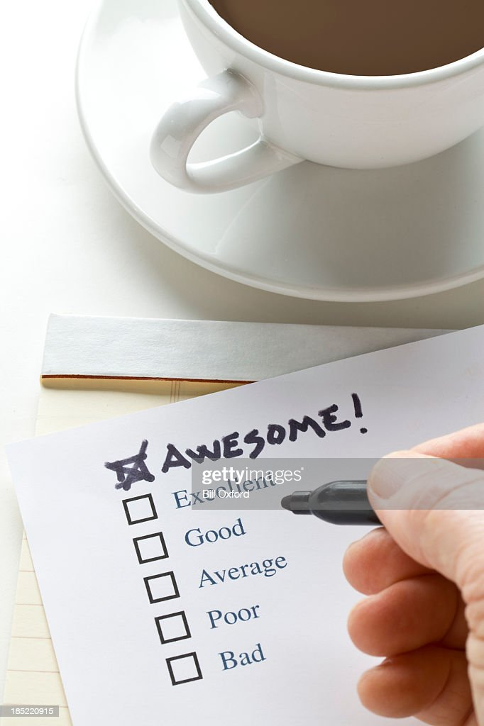 Check List  Awesome : Stock Photo