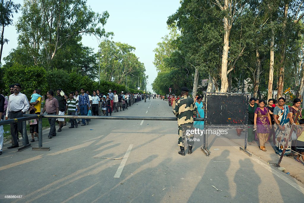 Check Point in Wagah before Flag Ceremony